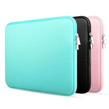 Upgrade 11 13 14 15.6 inch Laptop Sleeve case For Macbook Air Pro Ultra-book Notebook computer Soft Plush lining Zipper Bag