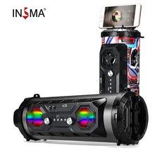 INSMA Hifi altavoz portátil bluetooth FM Radio Movimiento KTV sonido envolvente inalámbrico Subwoofer 20W altavoces al aire libre Boombox TF USB