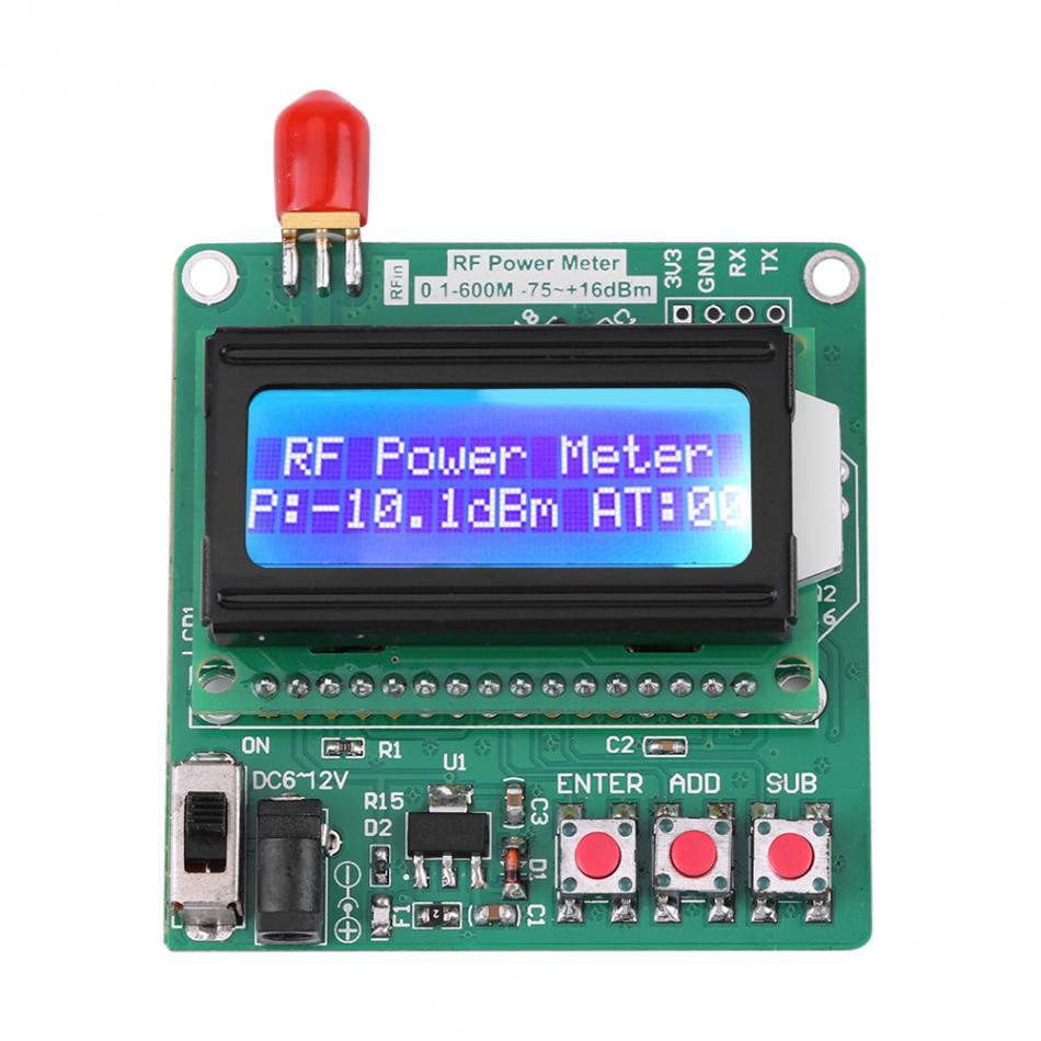 ЖК-цифровой ваттметр вольт ватт силовой Амперметр Вольтметр RF измеритель мощности-75 ~ 16 дБм 1-600 МГц Радиочастотное затухание Valuenew
