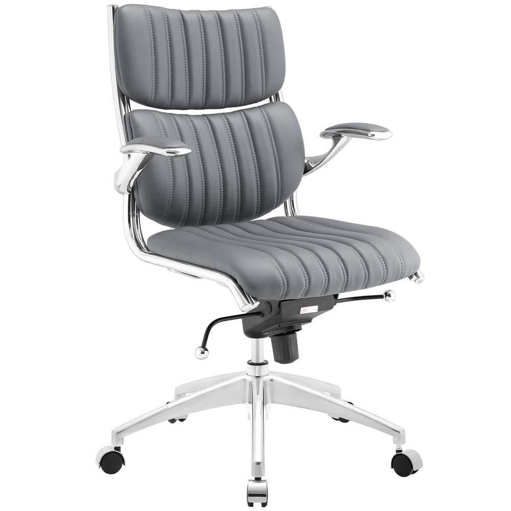 Серое офисное кресло Escape Mid Back Офисные стулья   