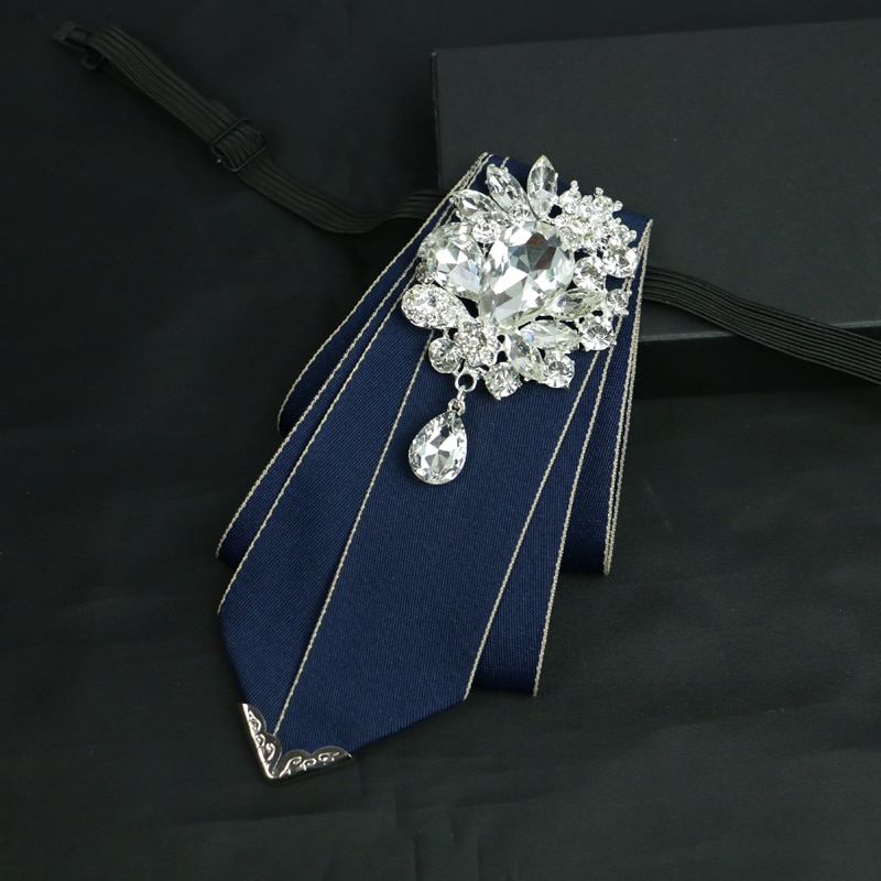 The new fashion men dress up high quality diamond bow tie Classic men's banquet wedding accessories bow tie