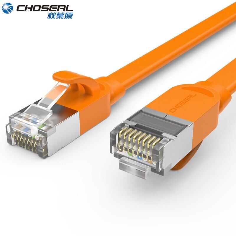 CHOSEAL CAT7 Ethernet кабель RJ45 10 Гб Быстрый экранированный SSTP сетевой кабель Плоский LAN сетевой патч-корд Cat7 для маршрутизатора компьютера