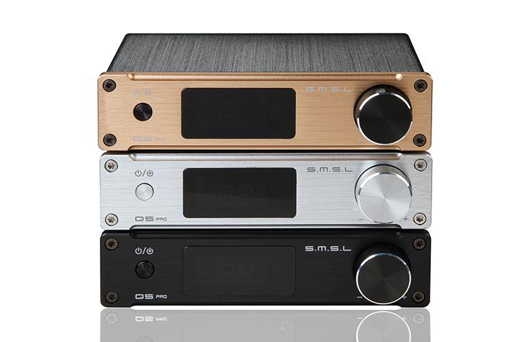 SMSL Q5 Pro HiFi de Alta Qualidade 2.0 Pure Digital Amplificador De Áudio Em Casa Optical/Coaxial/USB/suporte de entrada 24bit/96 kHz DAC USB