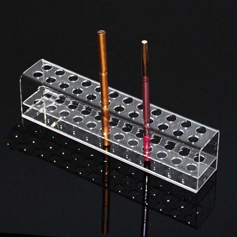LUDA acrílico lápiz soporte para lápiz maquillaje almacenamiento pincel cosmético organizador estante para cejas lápiz exhibición de Joyas