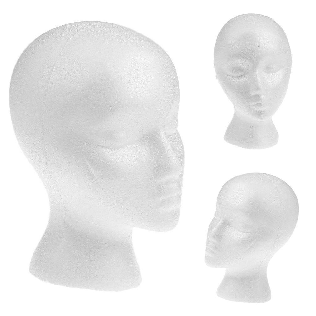 Female White Deflection Head Polystyrene Styrofoam Foam Head Model Stand Wig Hair Hat Headset Mannequin Head Display Stand Rack Mannequins Aliexpress