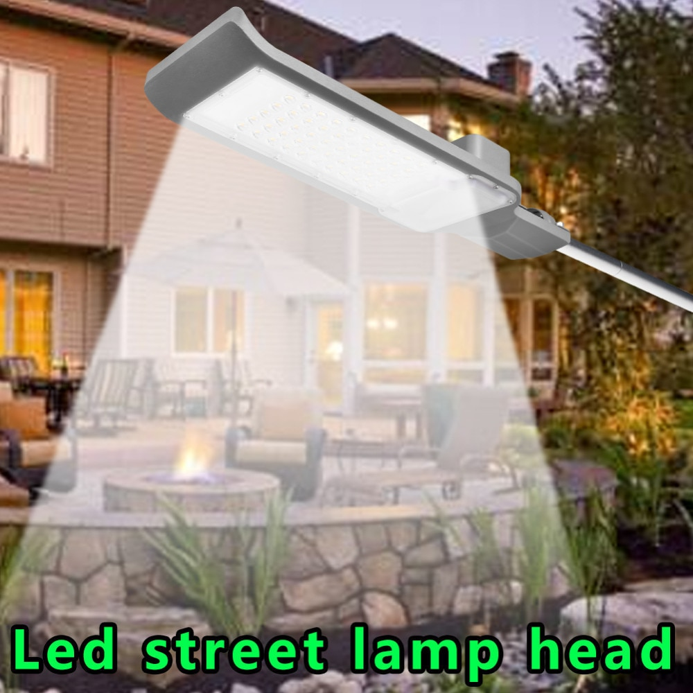 Impermeable IP65 30W/50W Led lámpara de calle cabeza de aluminio lámpara de camino en exteriores Led farola Luz de jardín foco AC85-265V