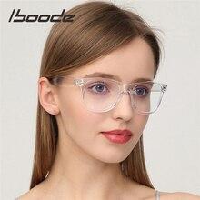 Iboode-lunettes avec monture optique   Anti lumière bleue, lunettes à monture de lunettes pour femmes et myopie, étudiant Nerd Black/monture transparente