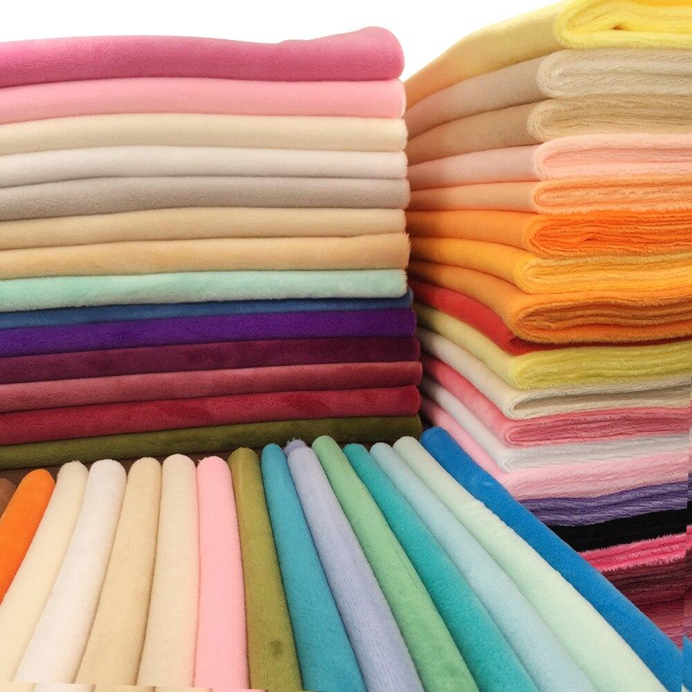 2019 Venta caliente 8 unids/lote 100 poliéster respetuoso con el medio ambiente 1,5mm montón Minky felpa tela para DIY costura Patchwork telas de terciopelo