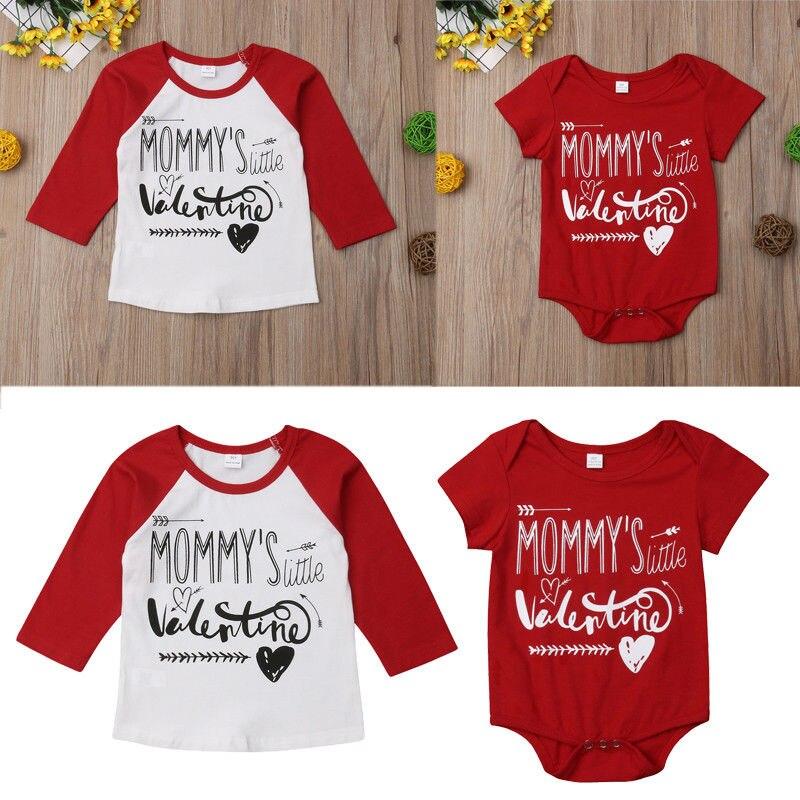 Pudcoco ropa de niño bebé pequeño hermano Romper Big Brother Camiseta de algodón San Valentín