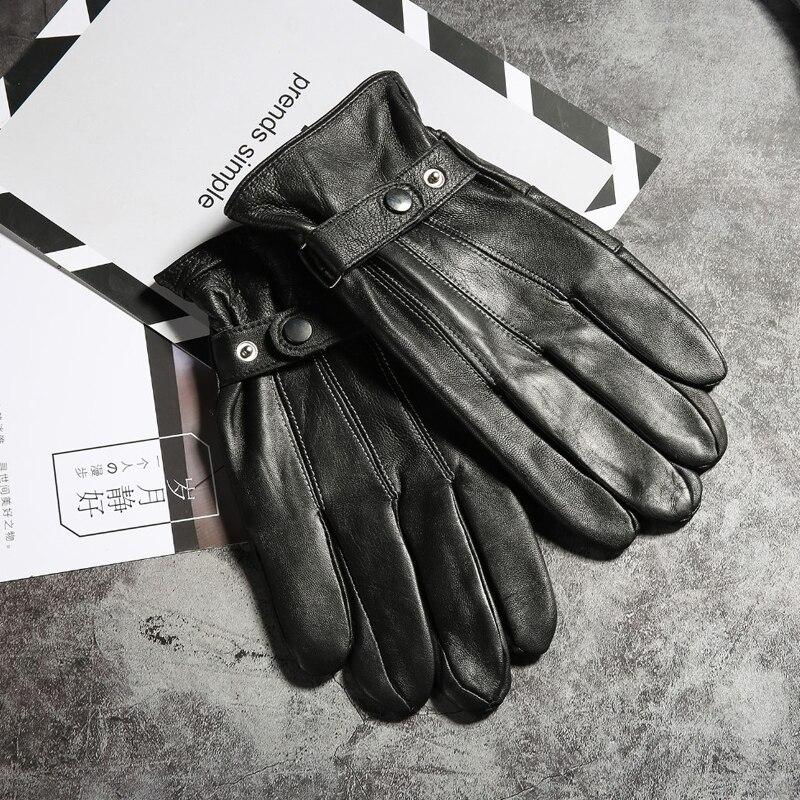 Зимние мужские перчатки из натуральной кожи 2021, теплые высококачественные варежки, утолщенные мужские варежки, водонепроницаемые перчатки...