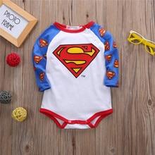 2019 Newest Superhero Baby bodysuits Boy Long Sleeves Batman Inverno Infanti Baby Bodysuits 1st Birthday Baby Bodysuits Jumpsuit