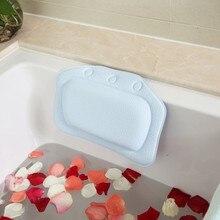 Appuie-tête étanche baignoire Spa   Fournitures de salle de bain, oreiller de bain avec ventouses, repose-cou