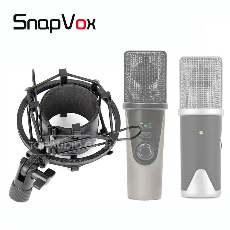 Montura anti-impacto tipo araña para micrófono soporte de suspensión a prueba de golpes condensador Mic soporte Abrazadera para APOGEE MIC + Mic + Plus 96k USB