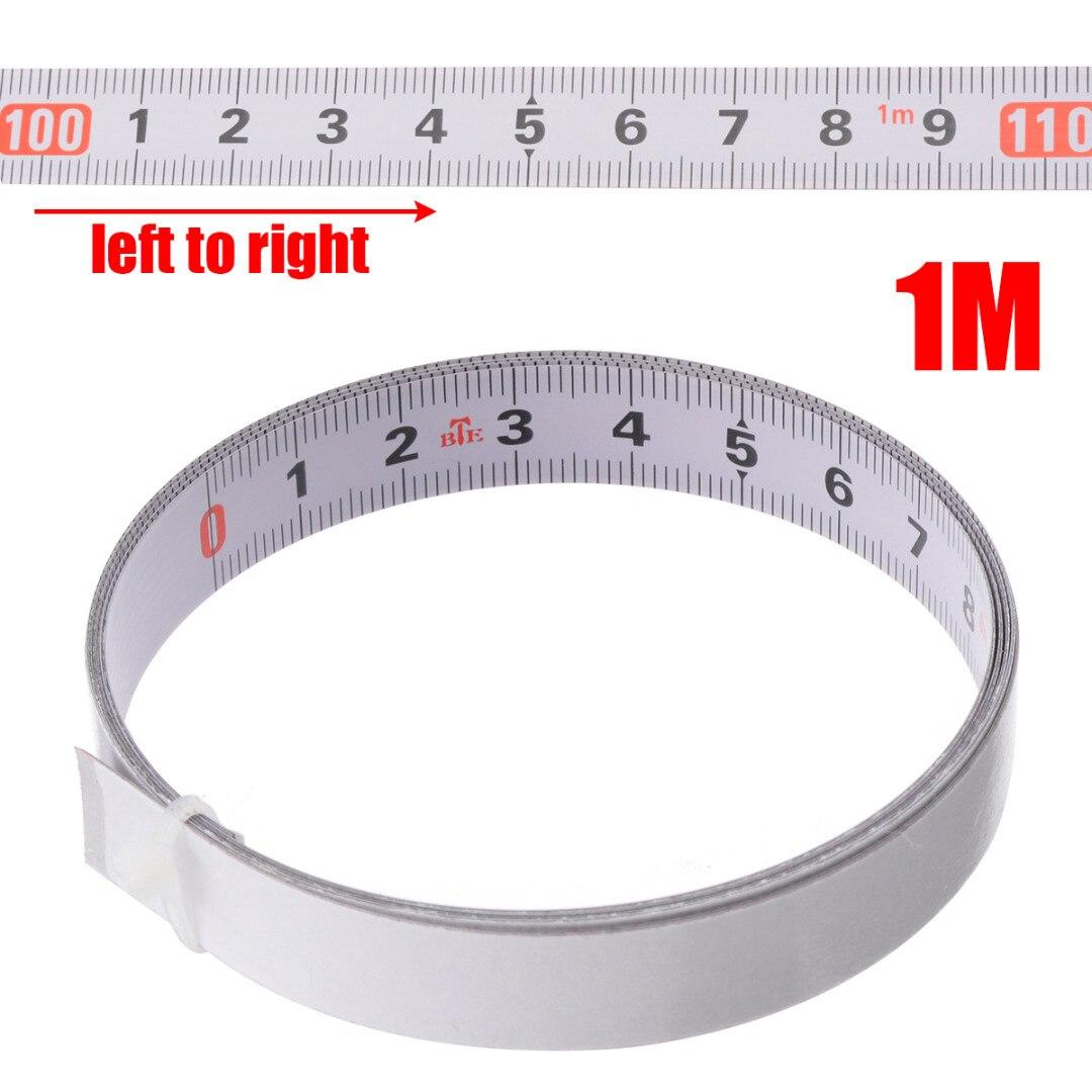 1/2/3/5 м самоклеящаяся ленточная лента для пилы измерительная подложка Метрическая стальная линейка измерительные инструменты измерительна...