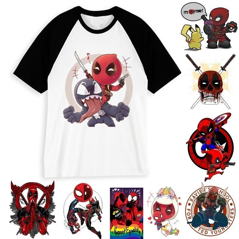 Мужская/женская футболка с героями мультфильмов Deadpool 2, забавные хипстерские аниме топы футболки для мужчин/женщин