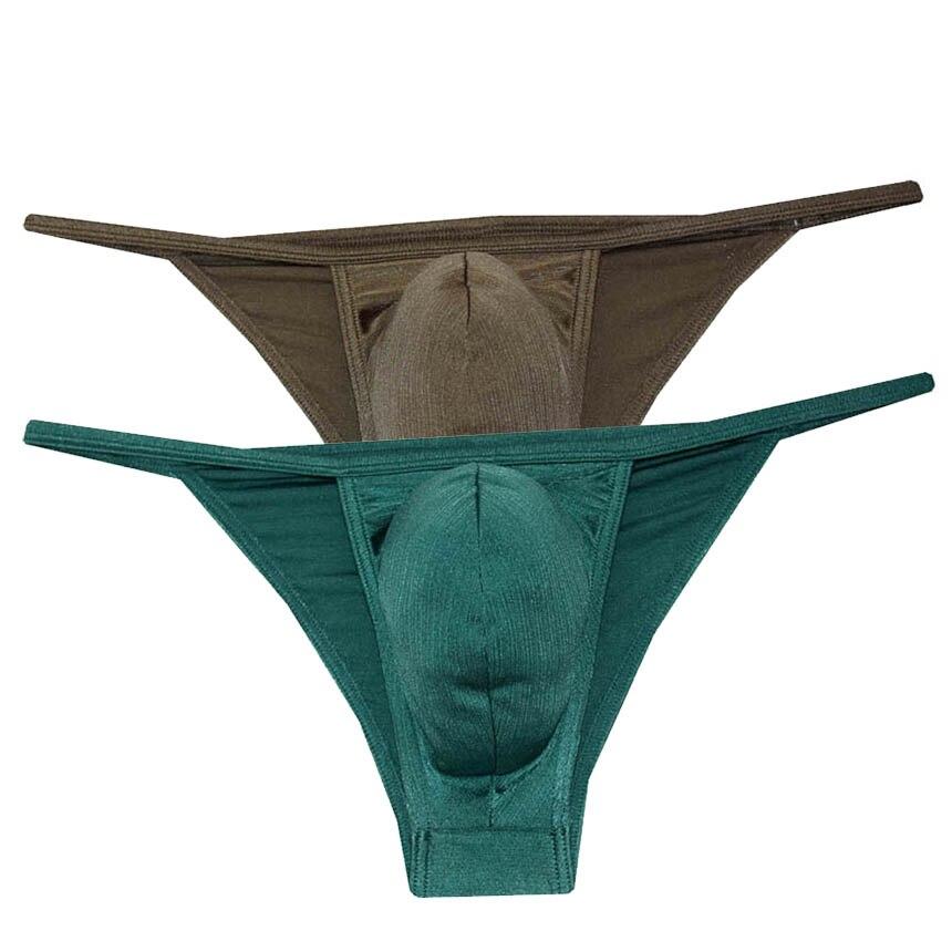 2 pçs/lote BikinisSatin Homens Roupa Interior Dos Homens Sexy Tanga Lingerie Calças Tangas Cordas Tangas Brilhantes Perizoma Uomo Erkek