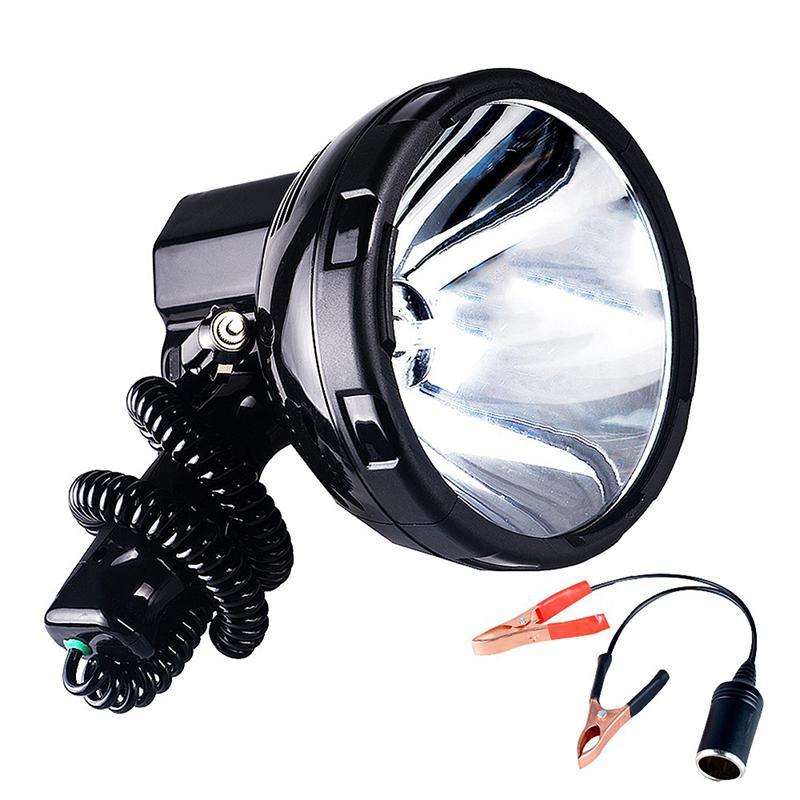 SOLLED, lámpara de xenón de alta potencia, para exteriores, de mano, para caza, pesca, patrulla, vehículo H3 HID, reflectores, 220W, foco de Hernia