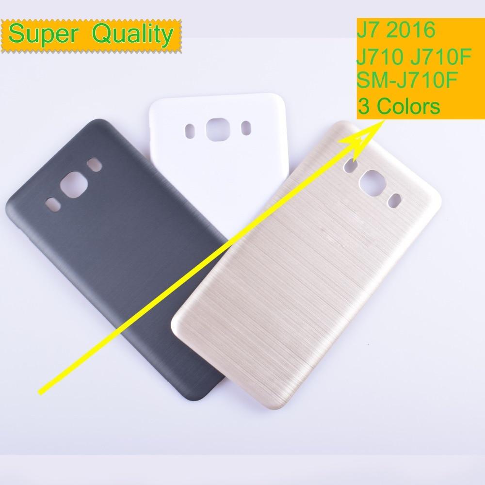 10 unids/lote para Samsung Galaxy J7 2016 j710 SM-J710F J710FN J710M J710H de la vivienda de la cubierta de la batería cubierta posterior caso chasis de la puerta trasera