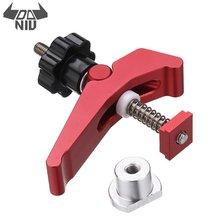 DANIU Durable aleación de aluminio de acción rápida Hold Down Clamp t-slot t-track Clamp Set DIY herramienta de carpintería de alta calidad
