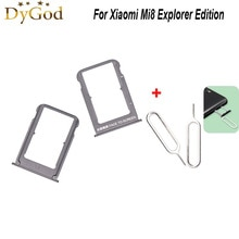 For Xiaomi Mi8 Explorer Edition SIM Card Tray Slot Holder Adapter Repair Accessories With Take Sim C