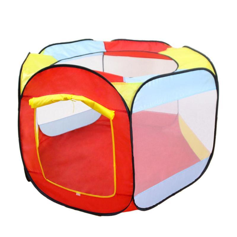 Portátil dobrável azul jogar tenda brinquedos para crianças castelo cubby jogar casa jogo ao ar livre oceano bola esportes brinquedos