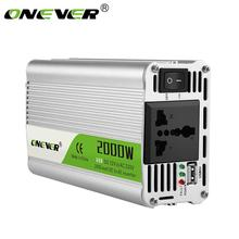 Usb 충전 2000 w 와트 dc 12 v ac 220 v 휴대용 자동차 전원 인버터 충전기 변환기 어댑터 dc 12 ac 220 수정 된 사인파