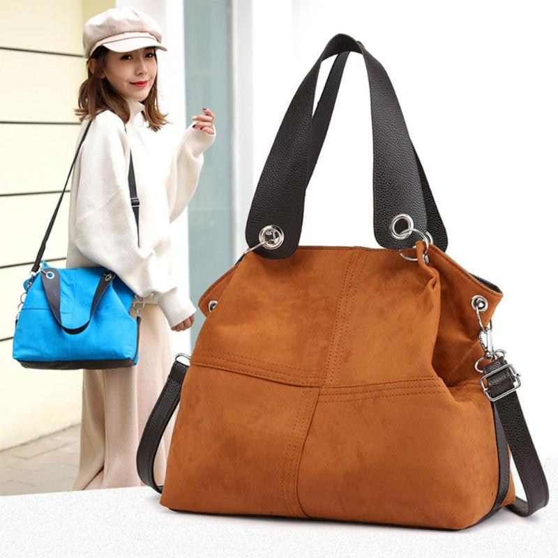 Marca bolsa feminina bolsa de ombro feminino grande bolsa de veludo macio bolsa de couro crossbody messenger bag para mulher 2019