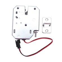 Electric Control Lock DC 12V 2A Electromagnetic safe Door Lock Cabinet Drawer Lockers Lock Latch Carbon Steel Silver Padlock