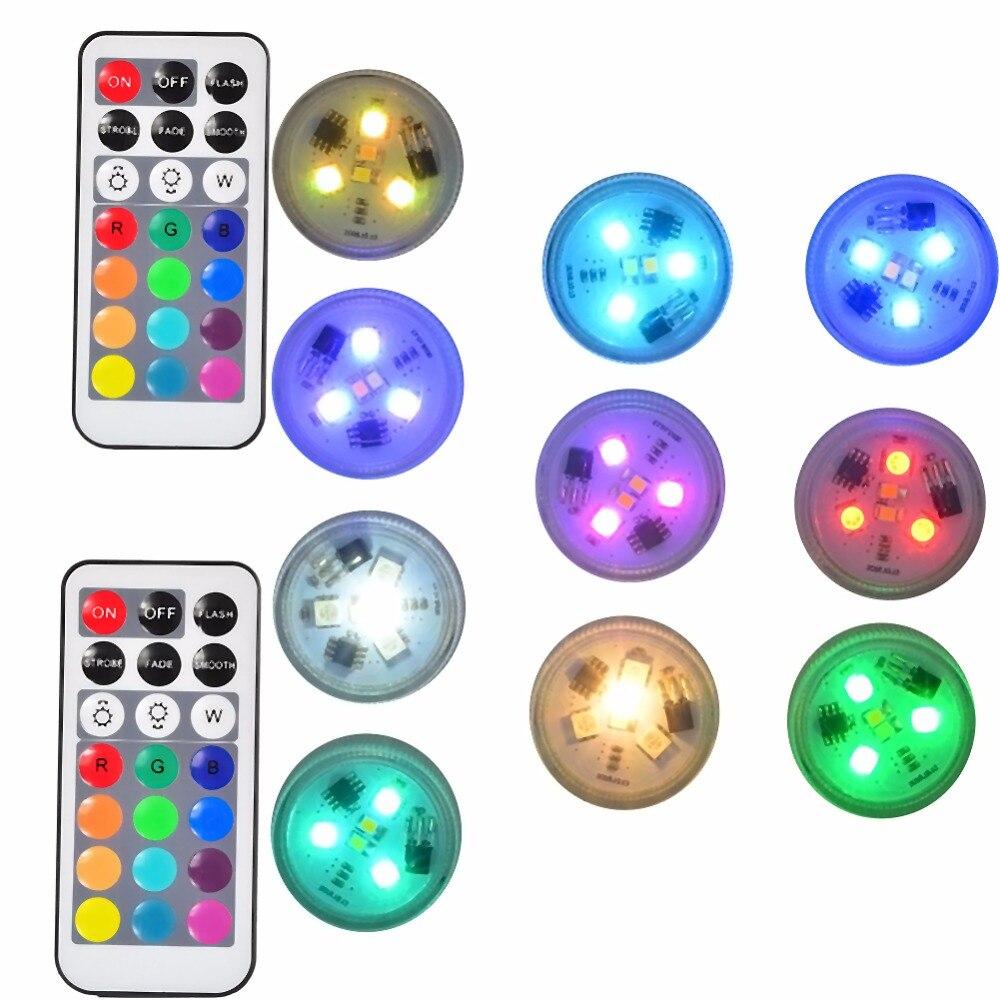 o diodo emissor de luz submersivel ilumina luzes flameless do cha das velas do diodo