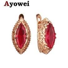 Boucles doreilles en or 2019, bijoux à la mode, énorme cristal rouge en zircon, cadeau de mariage, Je1209a, 925
