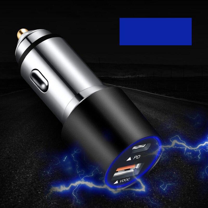 Cargador de coche USB de carga rápida tipo C PD, cargador de teléfono rápido, protección ICs para Oppo VOOC