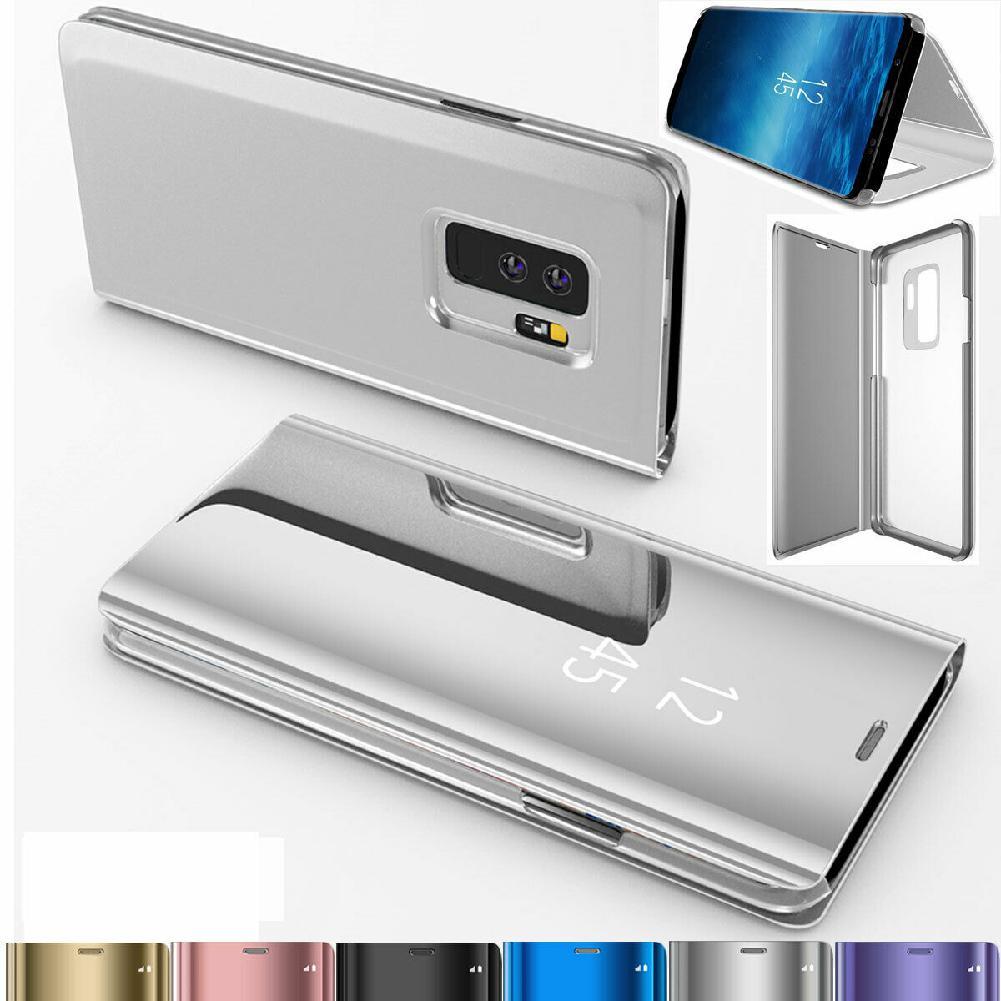 Para Samsung Galaxy S10/S10 Plus/S10E inteligente de cuero espejo de 360 cubierta de la caja del teléfono r20
