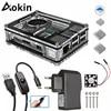 Aokin – boîtier pour Raspberry Pi 4 9 couches coque en acrylique avec ventilateur de refroidissement pour Raspberry Pi 4 3 modèle B 3B Plus