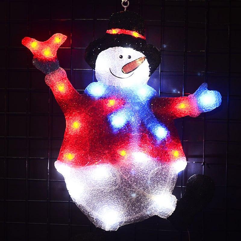 2D Рождественский Снеговик праздничный свет-20,5 дюйма Высокий свет партии наружные светодиодные Рождественские огни luces navidad внешний вид