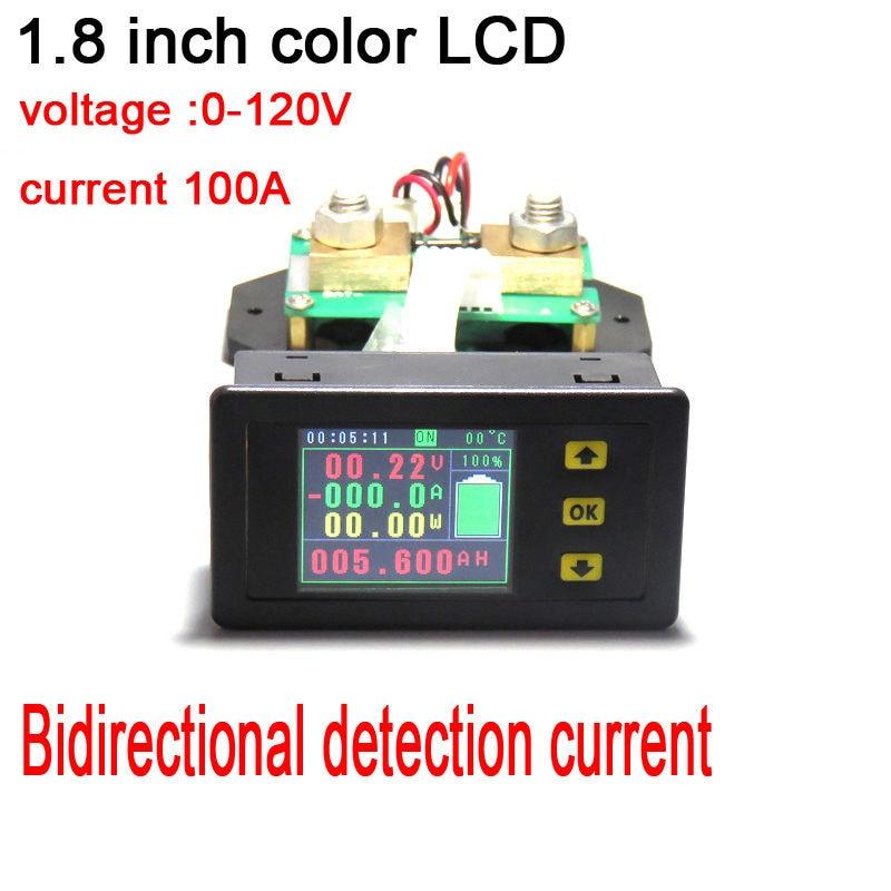 120 V 100A batterie moniteur mètre DC tension courant température capacité puissance coulomb charge décharge volt ampèremètre + shunt