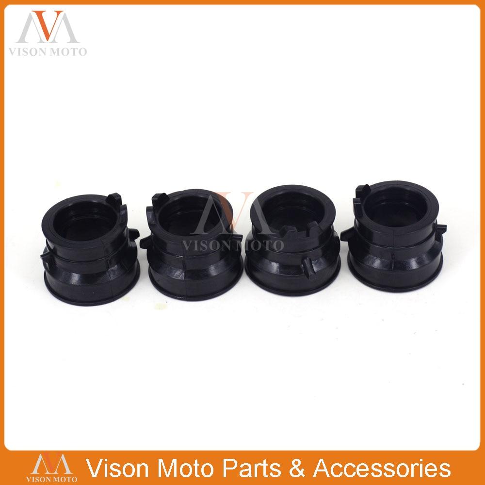 Motorcycle 4 Pcs Carburetor Interface Glue Connector For Honda CB400 CB 400 VTEC 1992 1993 1994 1995 1996 1997 1998