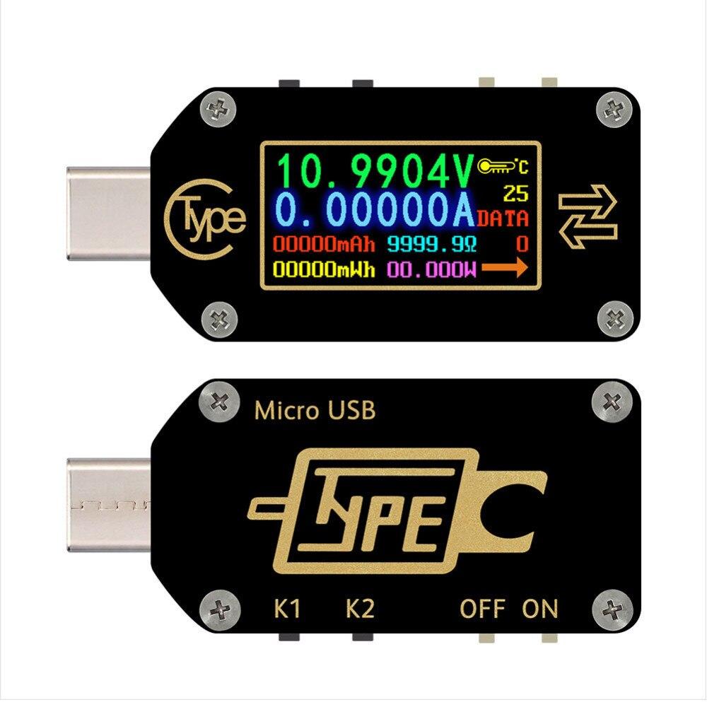 Tc66/tc66c type-c Pd déclencheur USB-C voltmètre ampèremètre tension 2 voies compteur de courant multimètre Pd chargeur batterie Usb testeur nouveau B4