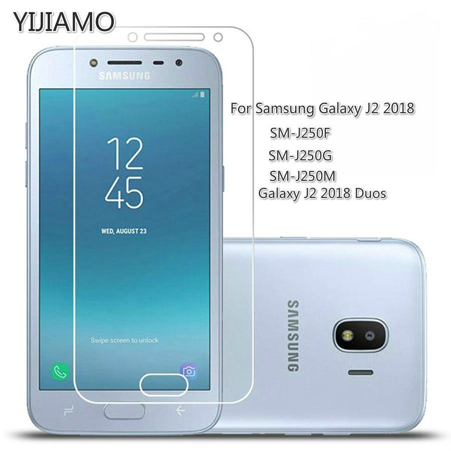 Защитное стекло 9H для Samsung Galaxy J2 2018, защита для экрана для Samsung J2 Pro 2018, закаленное стекло на J250 F G M DS
