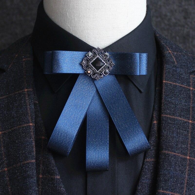 New mens multi-layered gemstone bow tie Wild British Groom Married Groomsman Dress Bow Tie