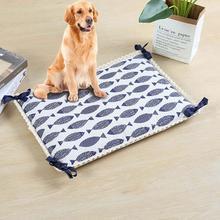 Tapis de refroidissement pour animaux de compagnie dété imprimé respirant imperméable pour animaux de compagnie chat pour grand chien lit coussin dormir accessoires pour animaux de compagnie