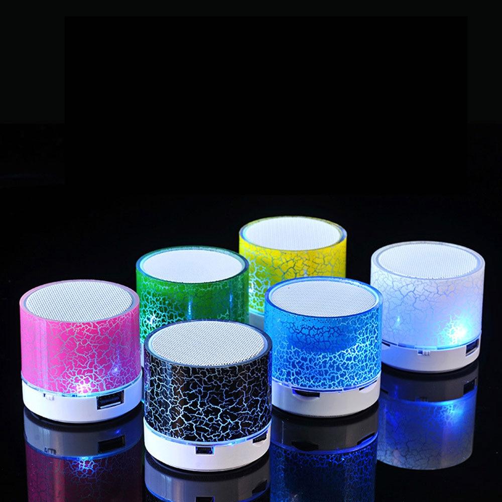 KISSCASE minialtavoz con Bluetooth portátil con luz LED USB 3D estéreo música Altavoz Bluetooth viaje altavoces caixa de som