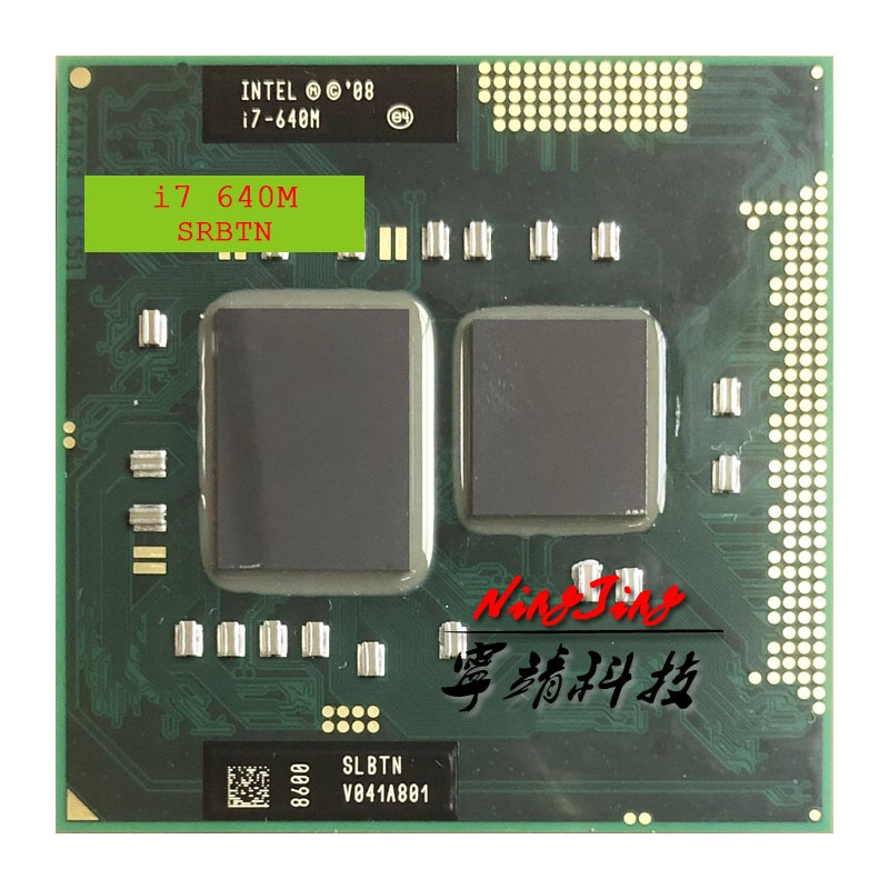 Intel Core i7-640M i7 640M SLBTN 2.8 GHz Dual-Core Quad-Thread CPU Processor 4W 35W Socket G1 / rPGA988A