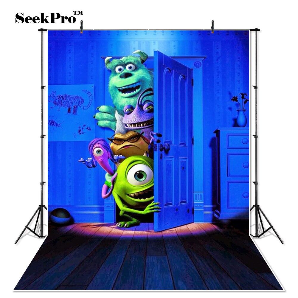 Thin Vinyl Monsters Inc Boo Sulley Mike bedroom door magic photography studio Backdrops camera Photo studio Photo Backgrounds