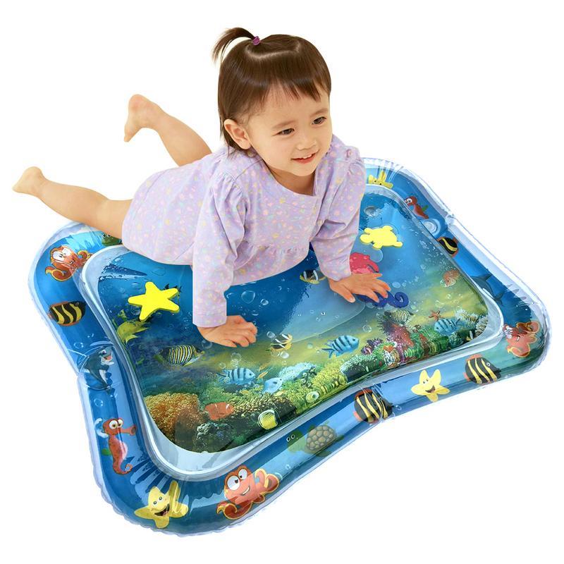 Venta caliente bebé niños agua mat inflable bebé barriga tiempo alfombra de bebé para bebé actividad divertida centro de juegos