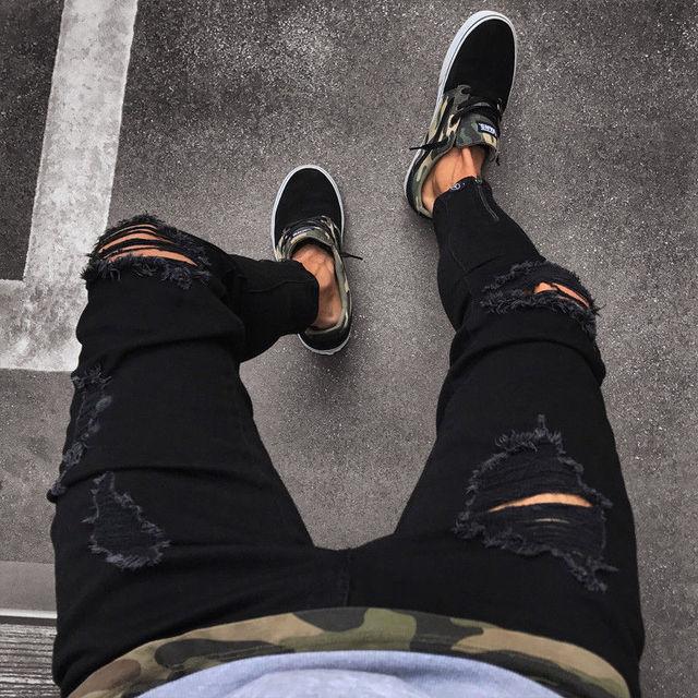 NEW Distressed Skinny Fashion Jeans 6