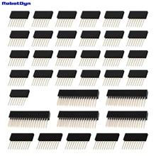 Mega 2560 R3 SET STAPELBARE headers, 5 sets (1x8, 1x10, 2x18), ZWART