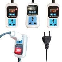 EU Plug Digital Thermostat Regulator Temperature Controller Microcomputer Socket Outlet AC110-220V + NTC Sensor XK-W2001 XK-W200