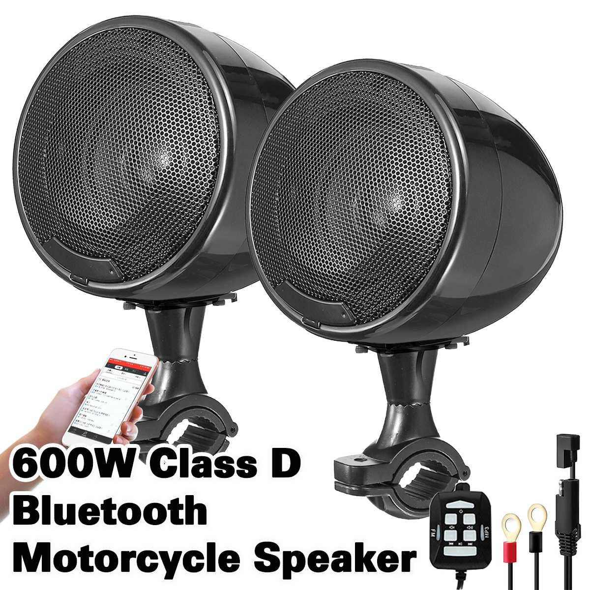 600w moto haut-parleur haute Performance 4 pouces étanche moto Atv Bluetooth haut-parleur intégré d-class amplificateur UTV