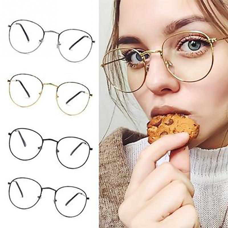 Gafas Ópticas Clásicas de Moda Unisex con Marco de Metal Dorado para Hombres y Mujeres Estilo Clásico Vintage para Leer