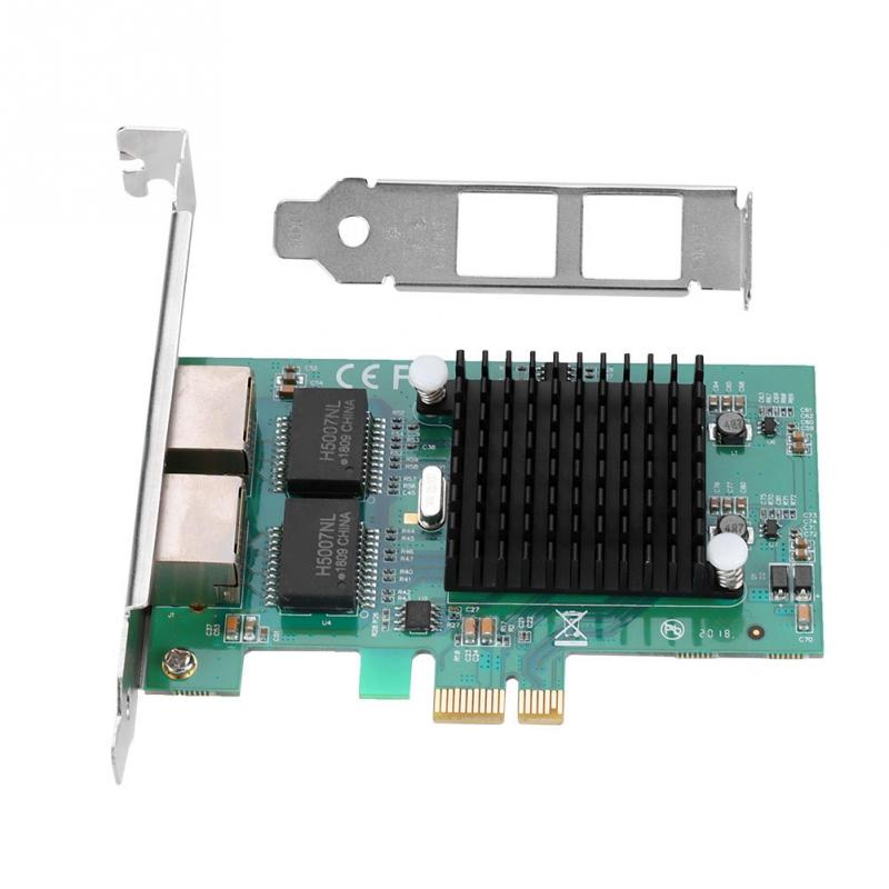for Intel 82575EB Chip Dual 2 RJ45 Port LAN Gigabit Ethernet Network Card Adapter PCI-E 10/100